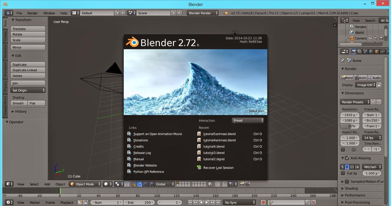 Tutorial Sederhana Belajar Animasi 3d Blender Membuat Meja Master