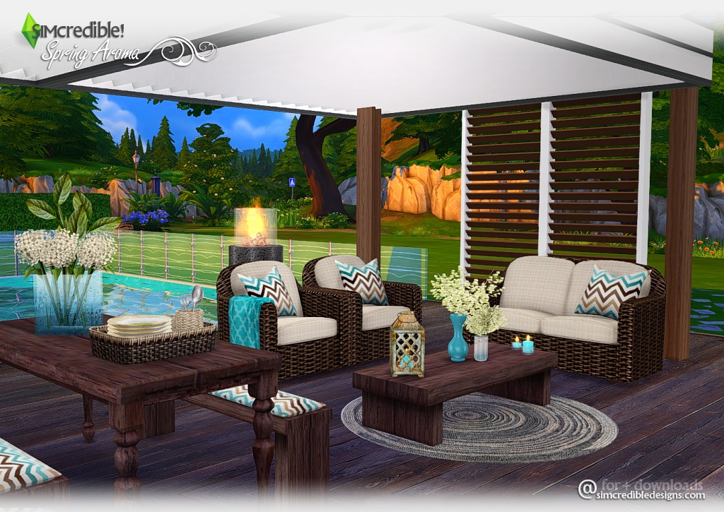 Sims 4 cc's   the best: spring aroma outdoor set by simcredible ...