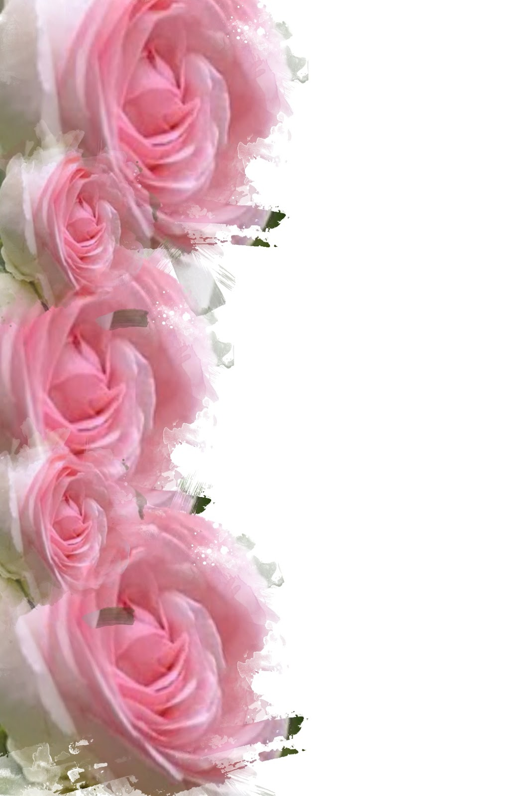 The gallery for --> Pink Roses Corner Border