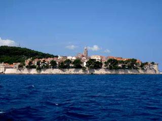 Walled Korcula Town Korcula Island Croatia