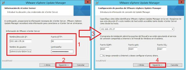 Configuración de puertos de VMware vSphere Updare Manager.