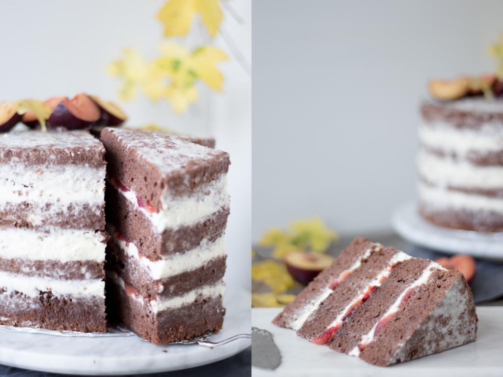 die angeschnittene Torte