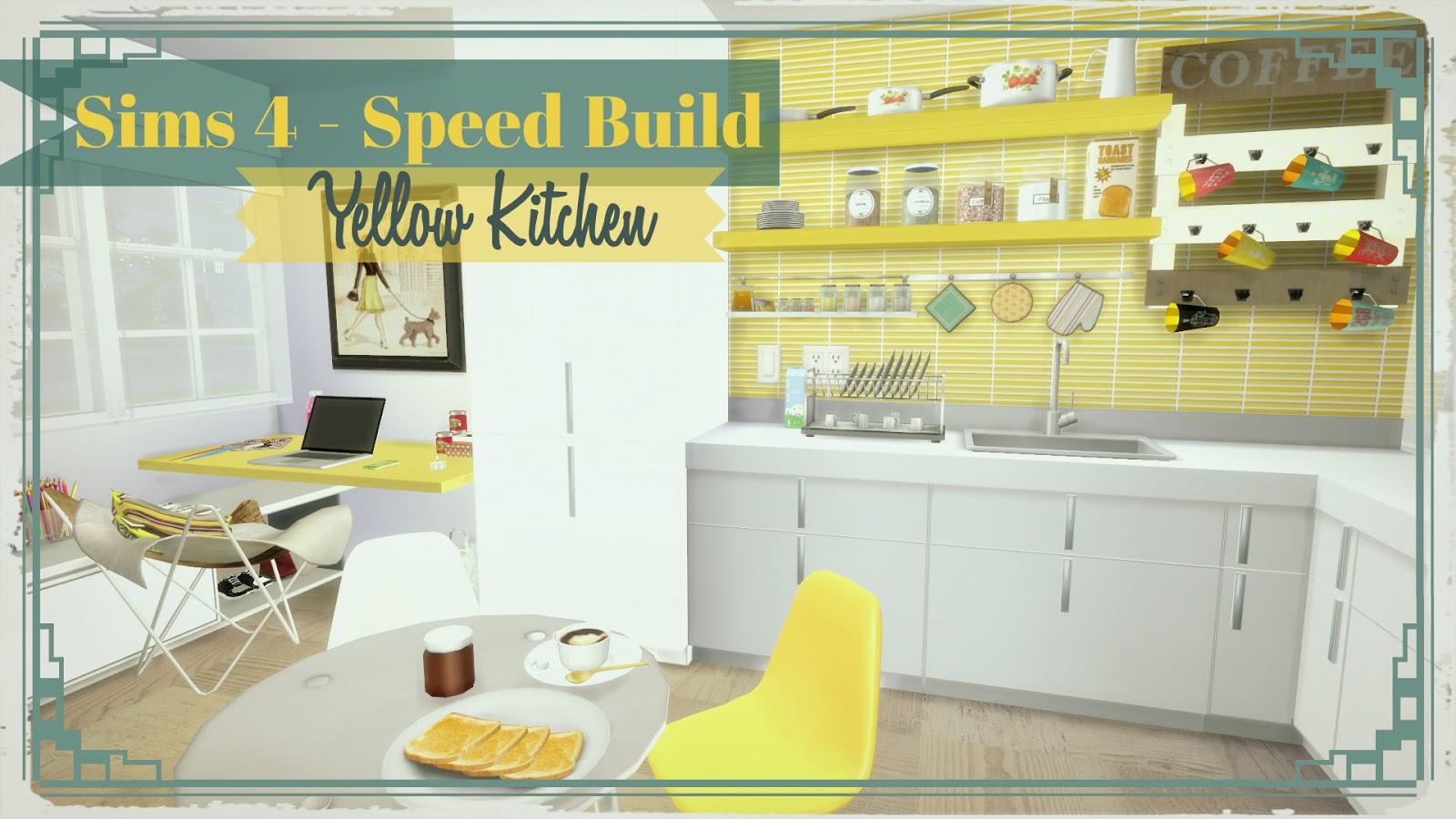 Sims 3 Kitchen Ideas Sims 4 Yellow Kitchen With Desk Dinha