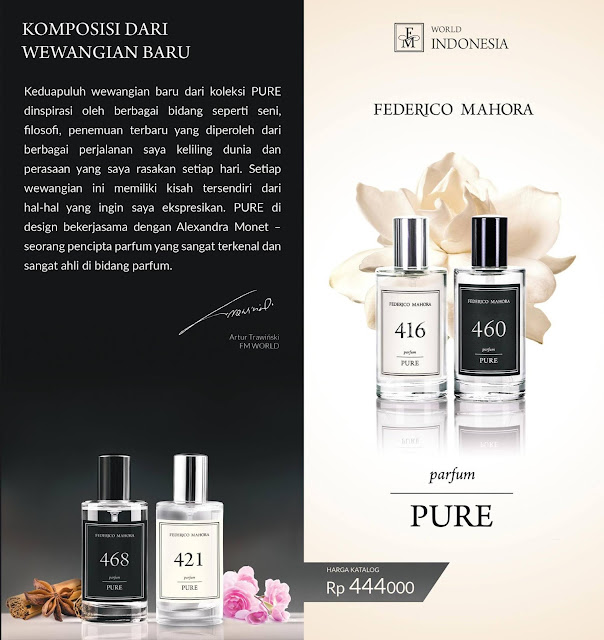 pure collection, parfum murni, pure perfumes, federico mahora, parfum original, new collection