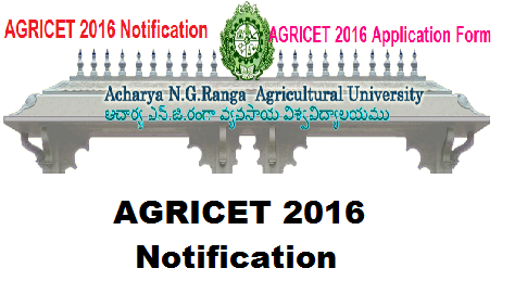 ACHARYA N.G. RANGA AGRICULTURAL UNIVERSITY|AGRICET 2016 Notification|ENTRANCE TEST FOR AGRICULTURE / SEED TECHNOLOGY POLYTECHNIC PASSED CANDIDATES FOR ADMISSION INTO B. Sc. (Ag.) Degree Programme for the Academic Year 2016-17|Agriculture and Seed Technology obtained from ANGRAU / PJTSAU for admission into four years B.Sc. (Ag.) Degree Programme through AGRICET 2016 for the academic year 2016 -17./2016/06/acharya-ng-ranga-agricultural-university-agricet-2016-notification.html