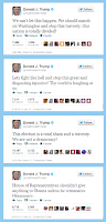 Donald Trump's un-American tweets from twitter supporting Mitt Romney election night.