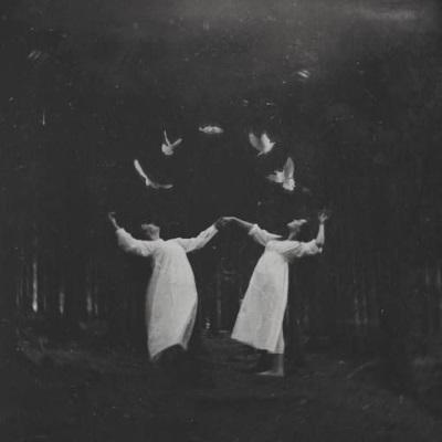 Photographie noir et blanc horreur halloween