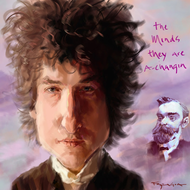 Bob Dylan Nobel caricature fede bengoa