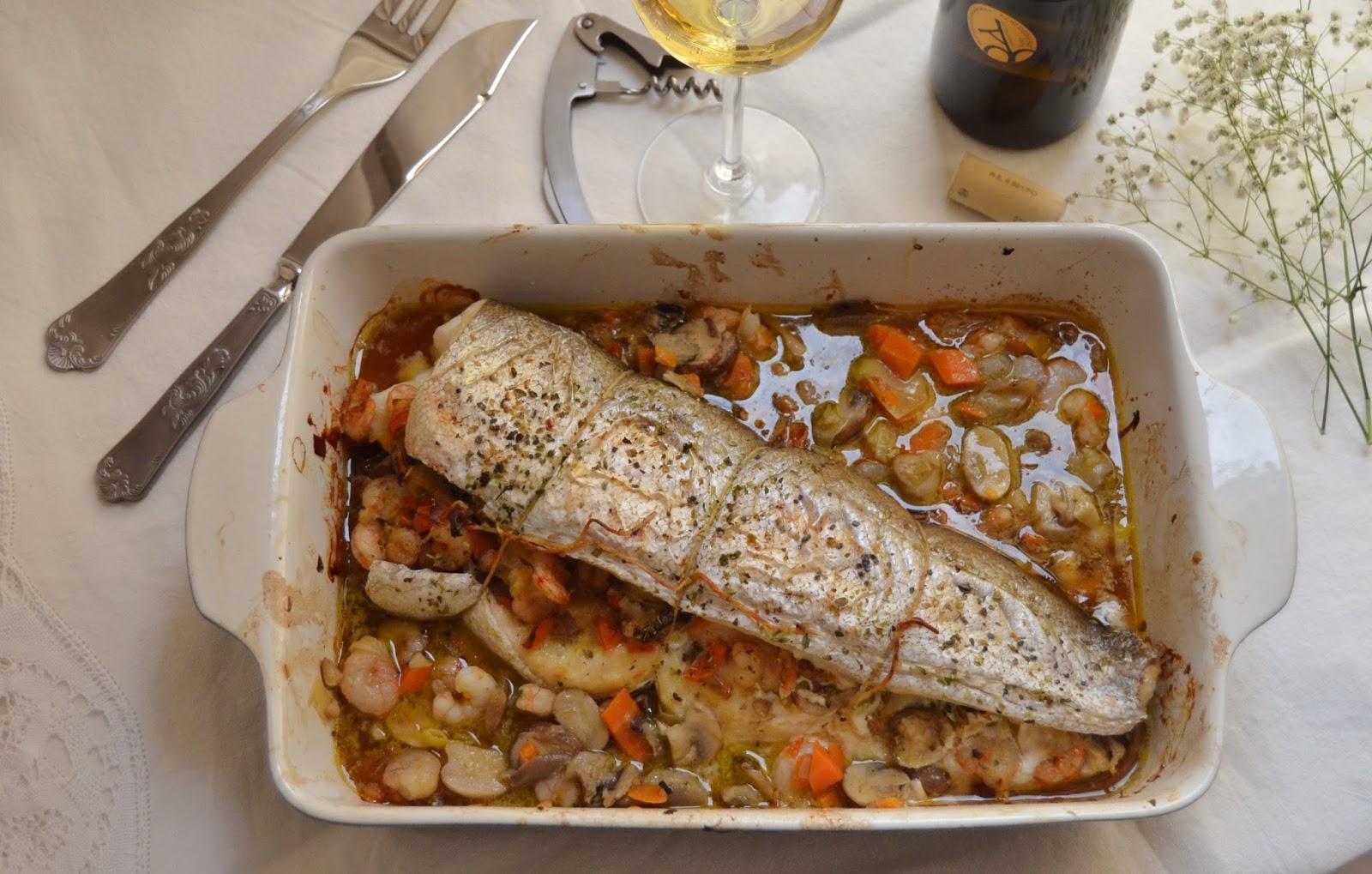 Merluza rellena al horno cuchillito y tenedor - Merluza rellena de marisco al horno ...