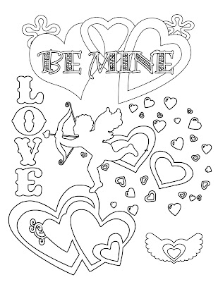 Be My Valentine Coloring Pages Download