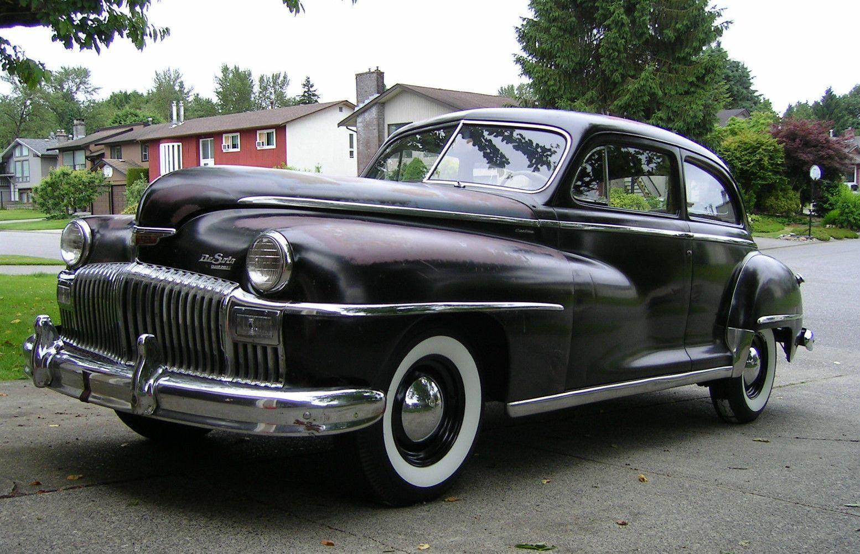 all american classic cars 1948 desoto custom 2 door brougham sedan. Black Bedroom Furniture Sets. Home Design Ideas