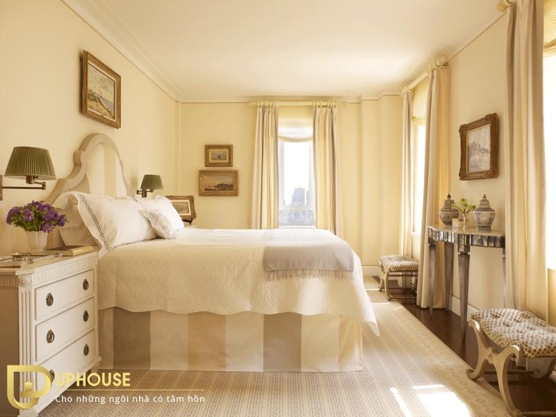 Phòng ngủ màu vàng nhạt 01
