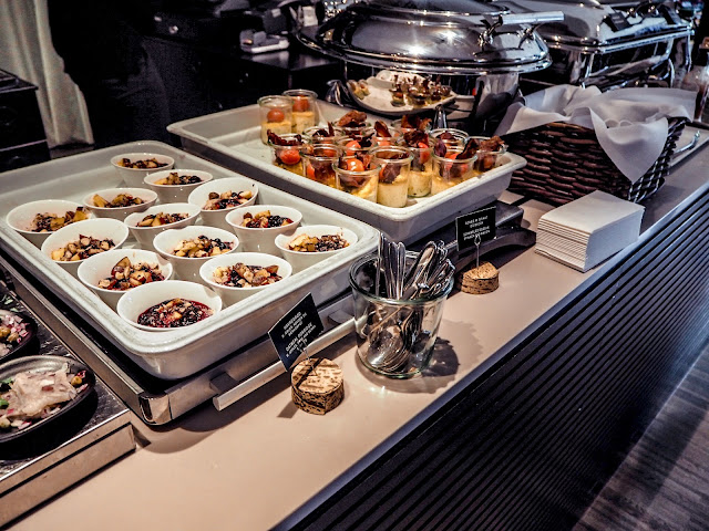 Breakfast selection at Ibsens Hotel