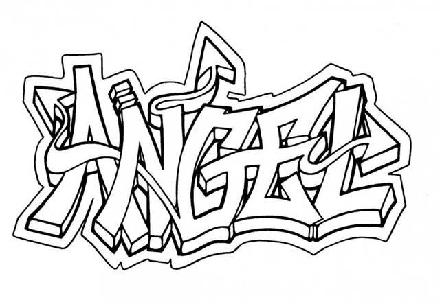 Bilder zum ausmalen graffiti