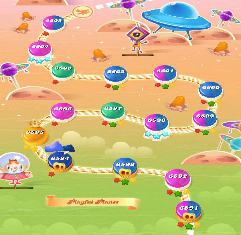 Candy Crush Saga level 6591-6605
