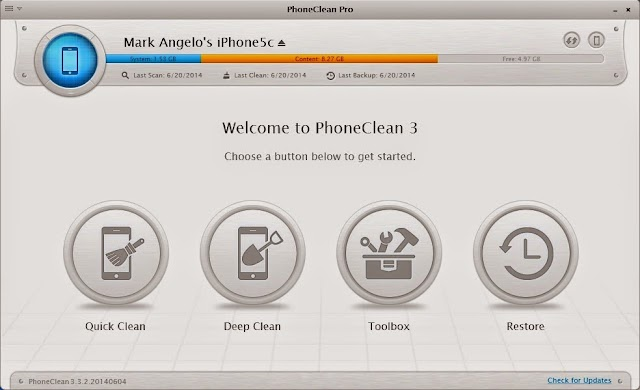 PhoneClean- your solution to remove unwanted files from your iOS Device.