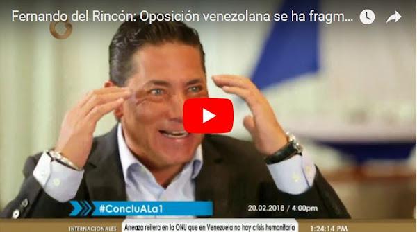 Vladimir entrevistando a Fernando del Rincón