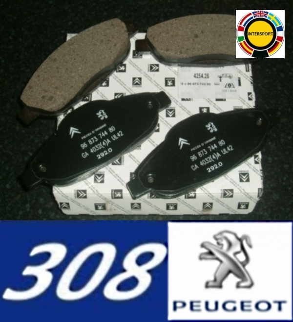 intermilan206 new peugeot 308 front brake pads. Black Bedroom Furniture Sets. Home Design Ideas