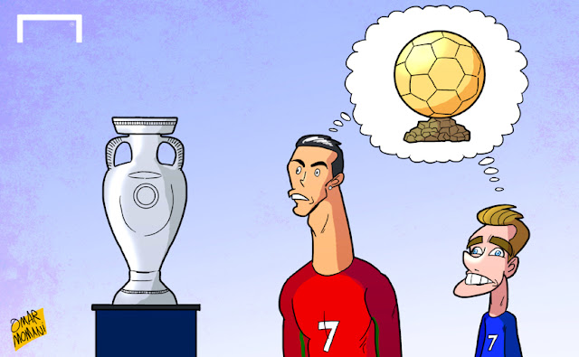 Cristiano Ronaldo vs Griezmann cartoon