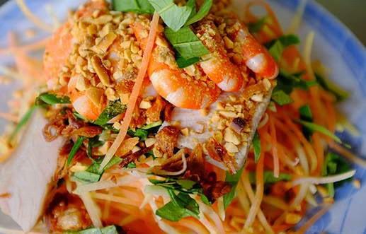 Bí quyết làm món Nộm đu đủ cà rốt tôm thịt