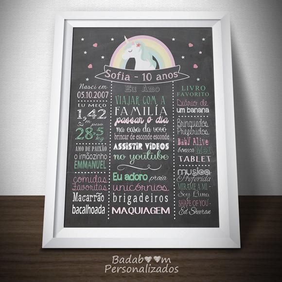 unicornio, chalkboard, quadro negro, print, poster, posters, posteres, arte, digital, decoração, aniversário, festa, quadro lousa