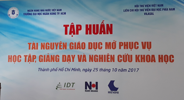 VILASAL tổ chức Tập huấn 'Tài nguyên giáo dục mở phục vụ học tập, giảng dạy và nghiên cứu khoa học' tại Đại học Ngân hàng TP. Hồ Chí Minh