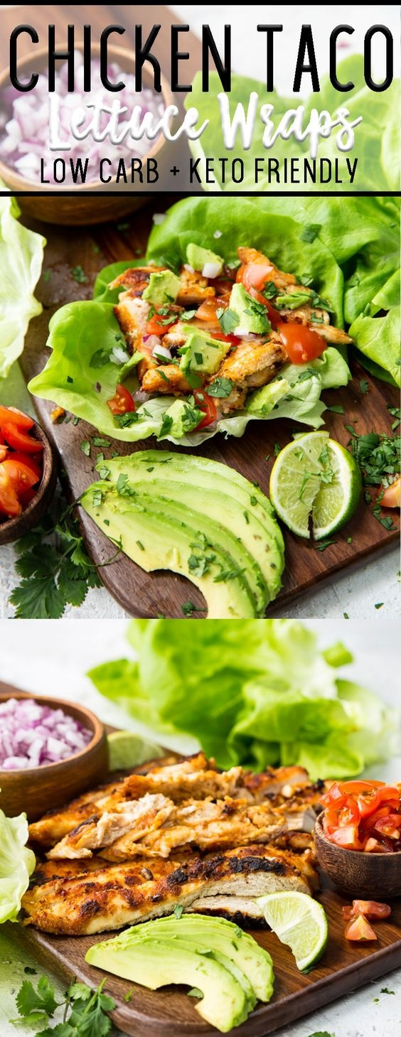 Chicken Taco Lettuce Wraps