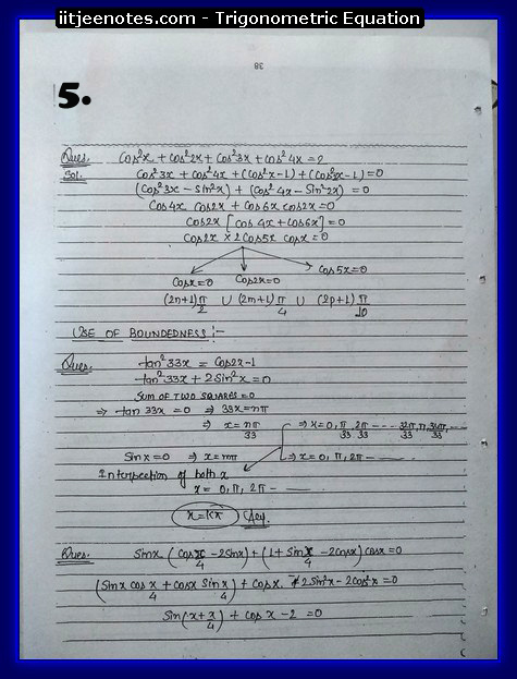 Trigonometric Equation Notes5