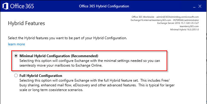365 Admin: How to configure Exchange 2013 - 2016 for Office 365 Hybrid