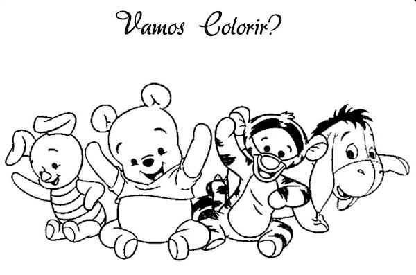Baú da Web: Ursinho Pooh baby desenhos para colorir