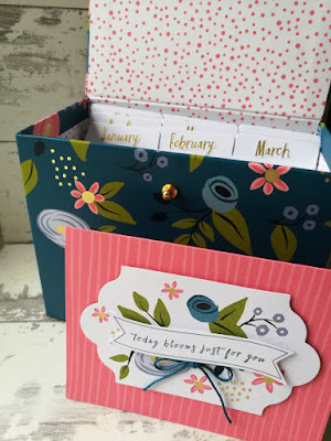 Stunning ready made Designer box to store your greetings cards