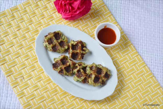 Waffled Zucchini Fritters