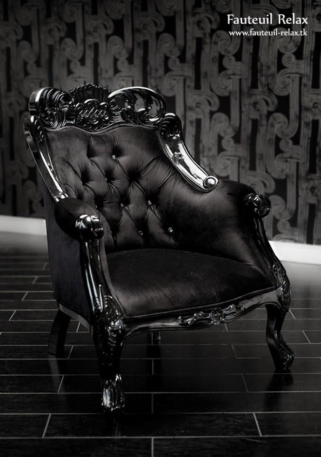 fauteuil baroque velour noir fauteuil relax. Black Bedroom Furniture Sets. Home Design Ideas