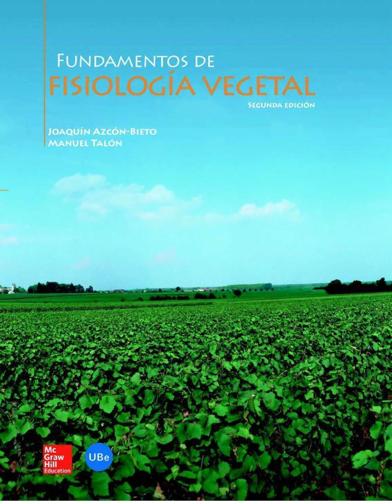 Fundamentos de fisiología vegetal, 2da Edición – Joaquín Azcón-Bieto