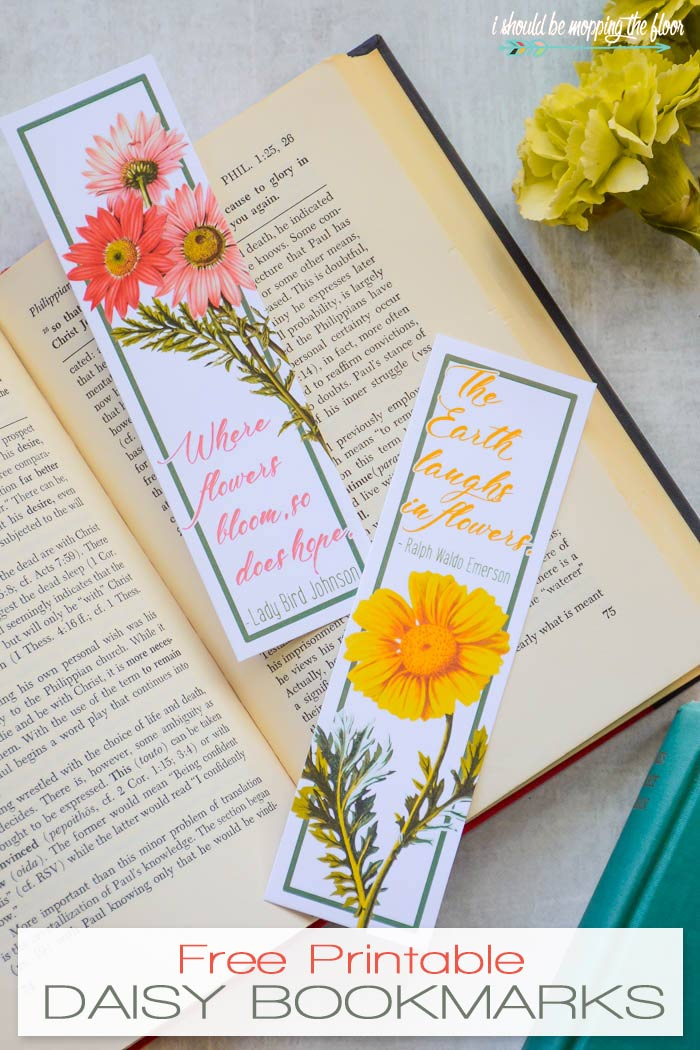 picture relating to Daisy Printable named Absolutely free Printable Daisy Bookmarks i really should be mopping the ground