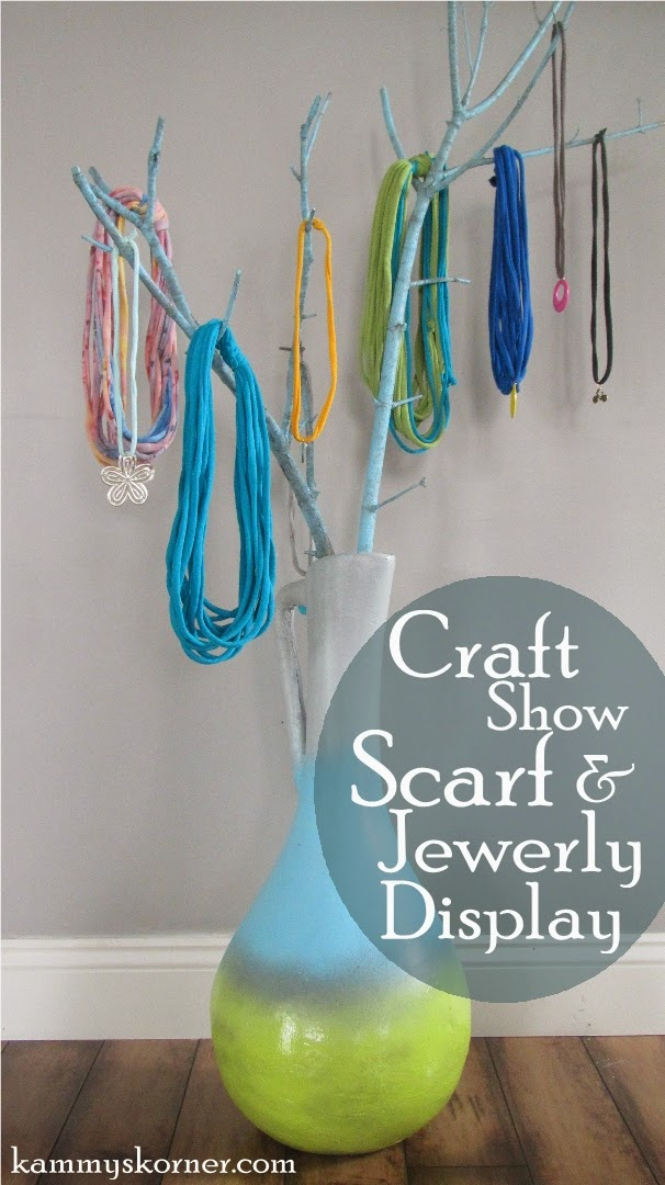 Kammys Korner blog tutorial for a craft booth jewelry display