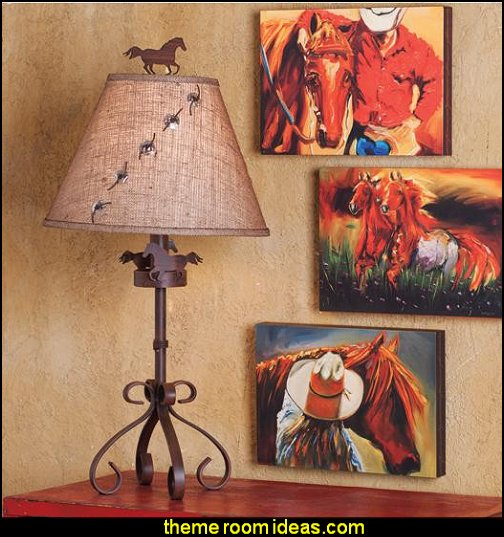 Horse And Concho Lamp