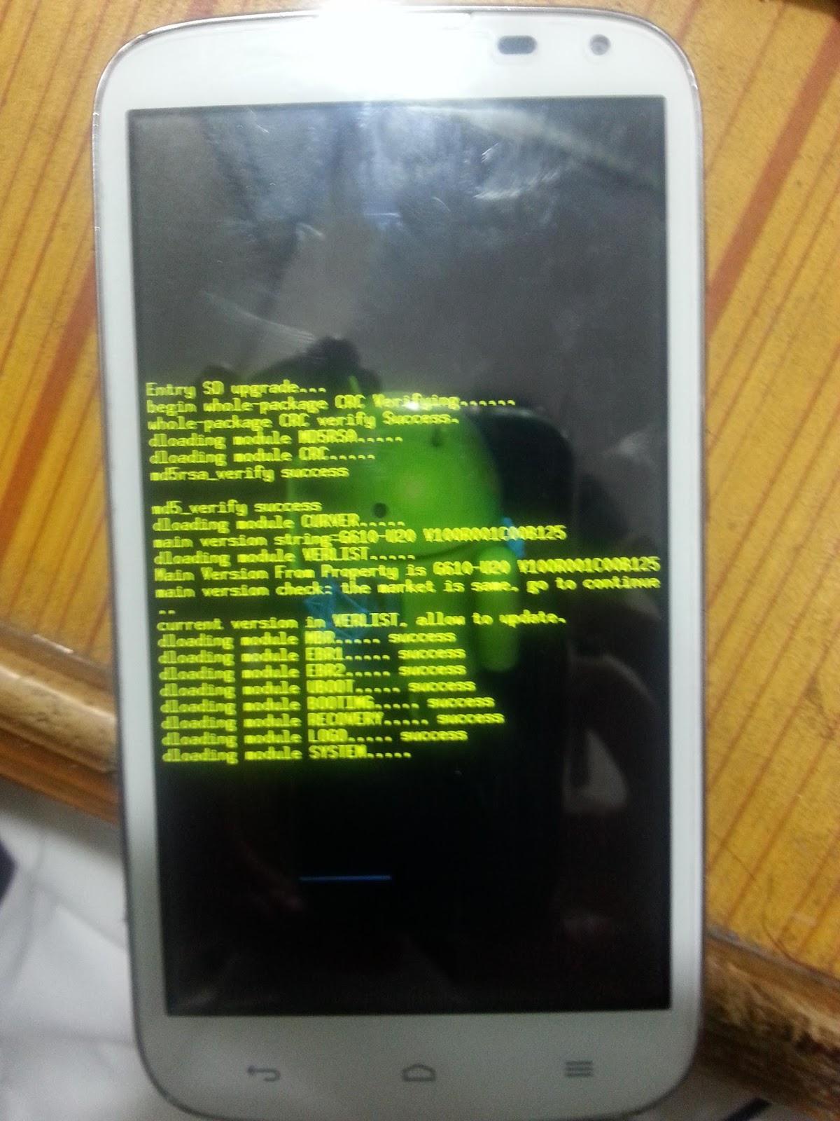 Прошивка на Huawei G610 U20