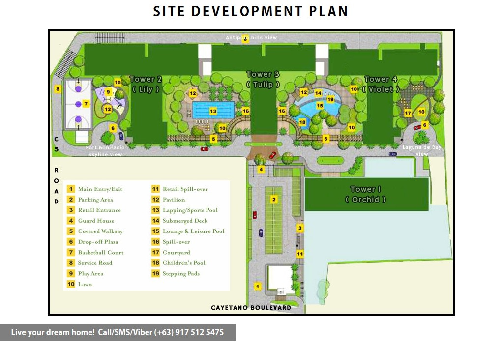 Site Development Plan | SMDC Grace Residences - 1 Bedroom Deluxe With Balcony | Condominium for Sale Taguig