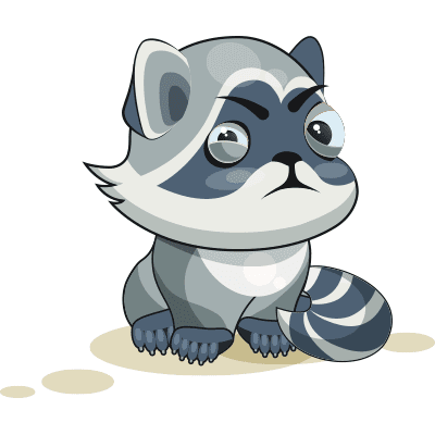 Grimacing Raccoon