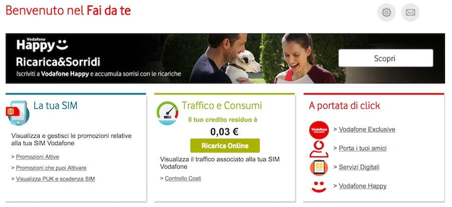 clicca Vodafone Exclusive nel fai da te