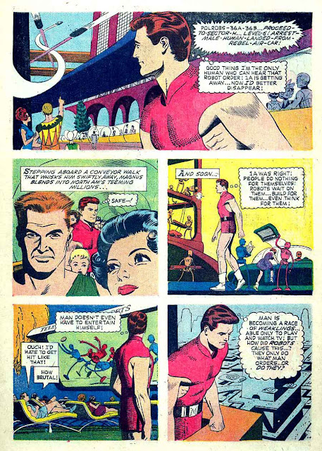 Magnus Robot Fighter v1 #1 gold key silver age 1960s comic book page art by Russ Manning
