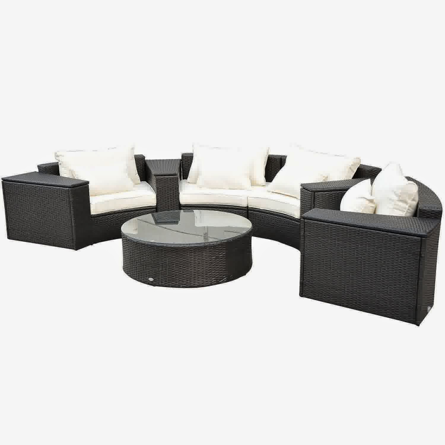 discount outdoor sofa set leather sleeper full 57 outsunny 9pc patio rattan wicker