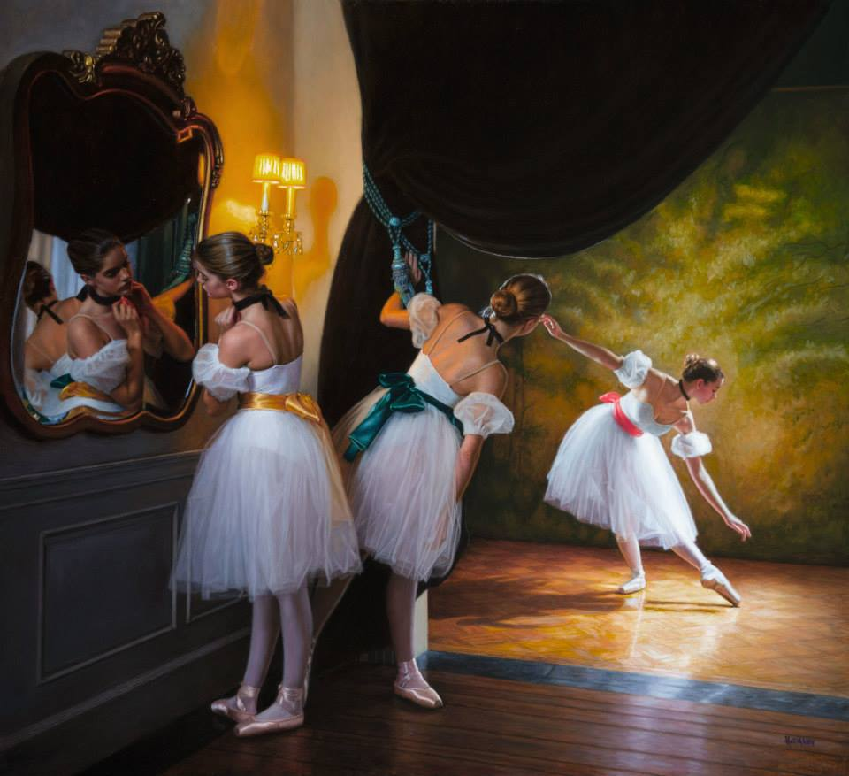 Douglas Hofmann backstage painting