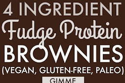 4 Ingredient Fudge Protein Brownies Recipe (Vegan, Gluten-free, Paleo)
