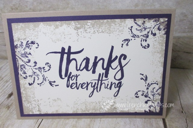 All Tings Thanks, Timeless Texture, Stampin'Up!