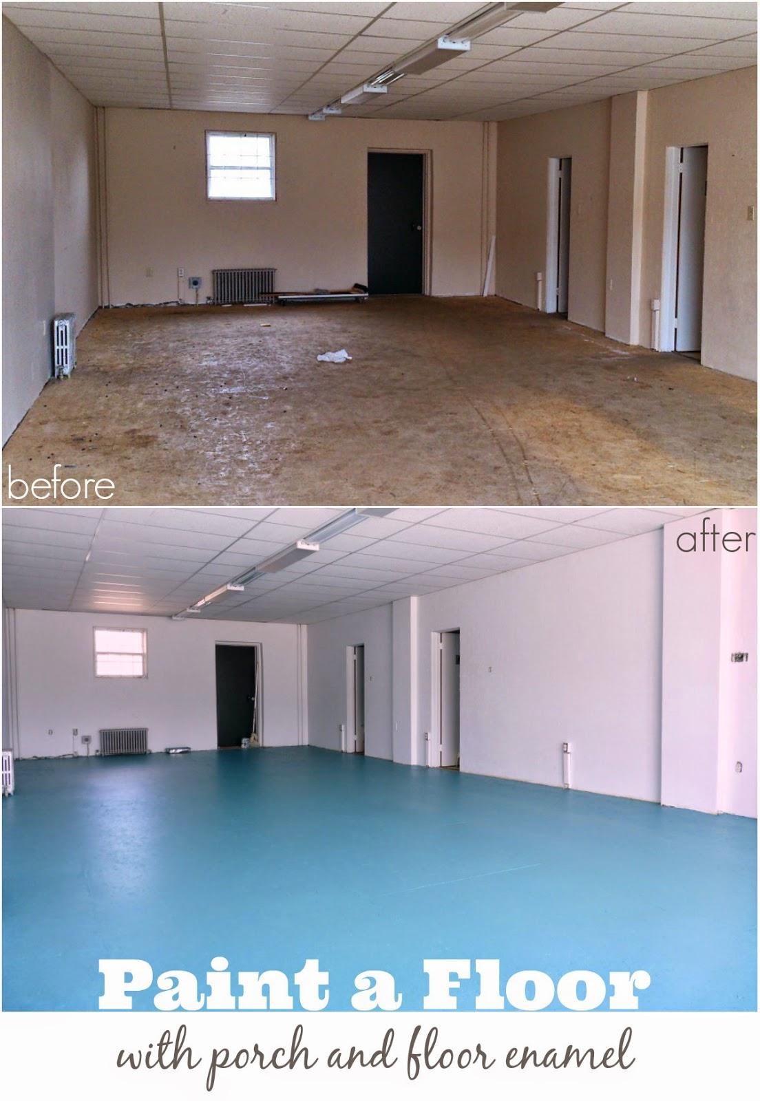Painted OSB Floors