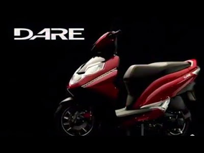 New coming Hero Dare 125cc Scooter Red & black color Hd Image