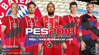 PES Mobile 2018 Mod Bayern München v3.8 Apk + Obb