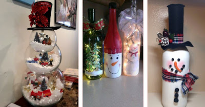 Adornos navidenos reciclados botellas de vidrio